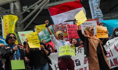 印尼移工要求母國政府廢除仲介制度(2)