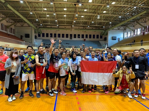 印尼選手們賽前合影