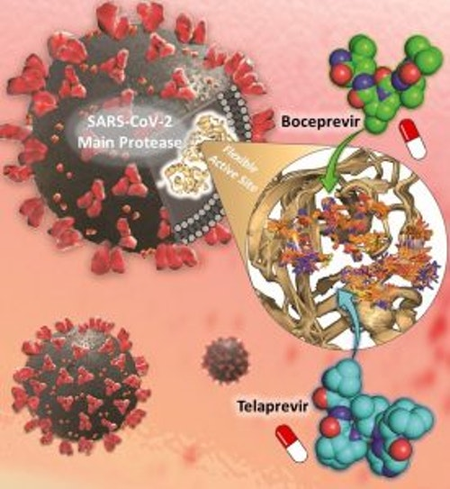 抗新冠病毒(SARS-CoV-2)藥物Boceprevir和Telaprevir